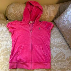 Juicy Couture Girls Pink Terry hoodie 12